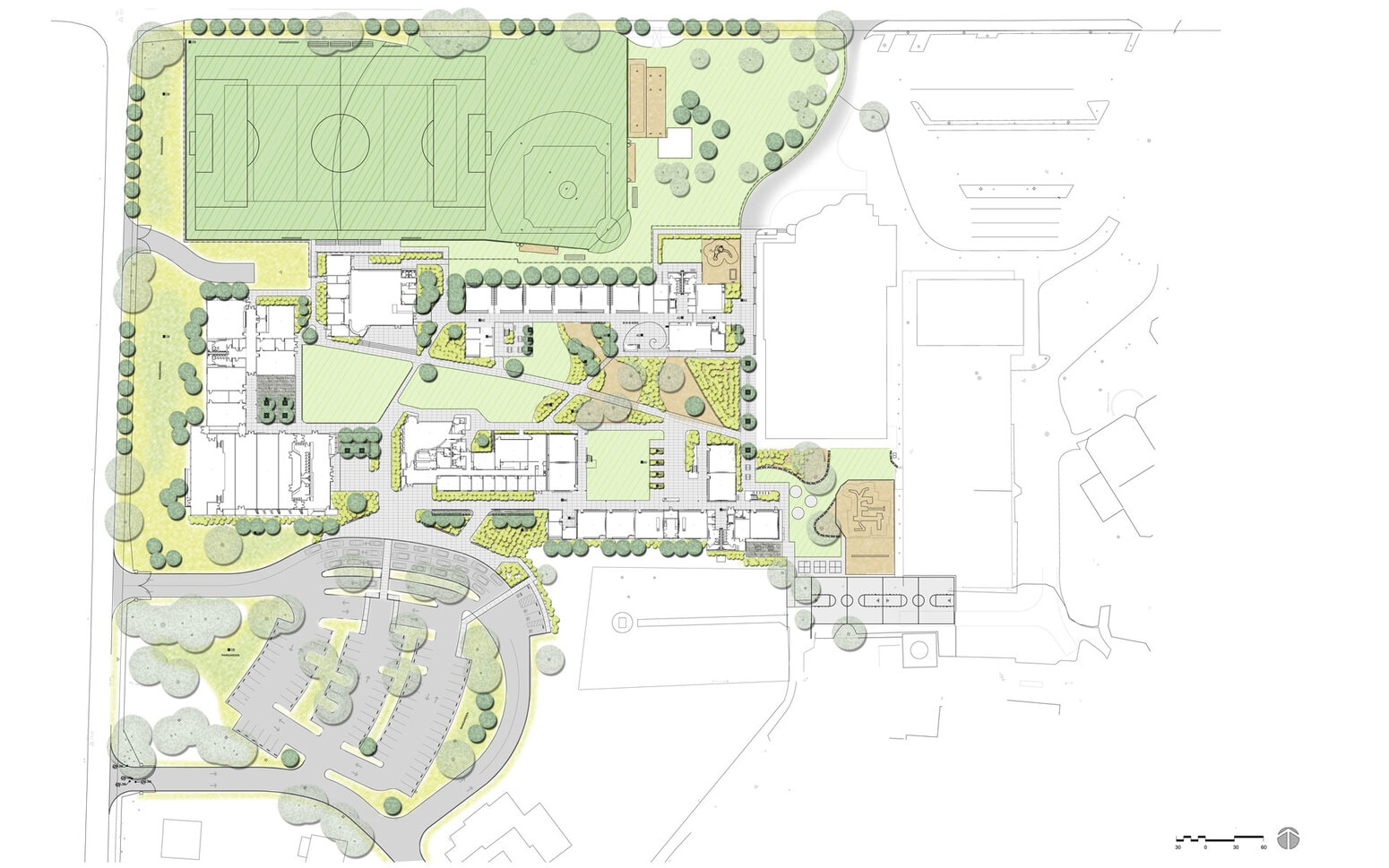 Sacred Heart School Campus Renovation and New Library Plans