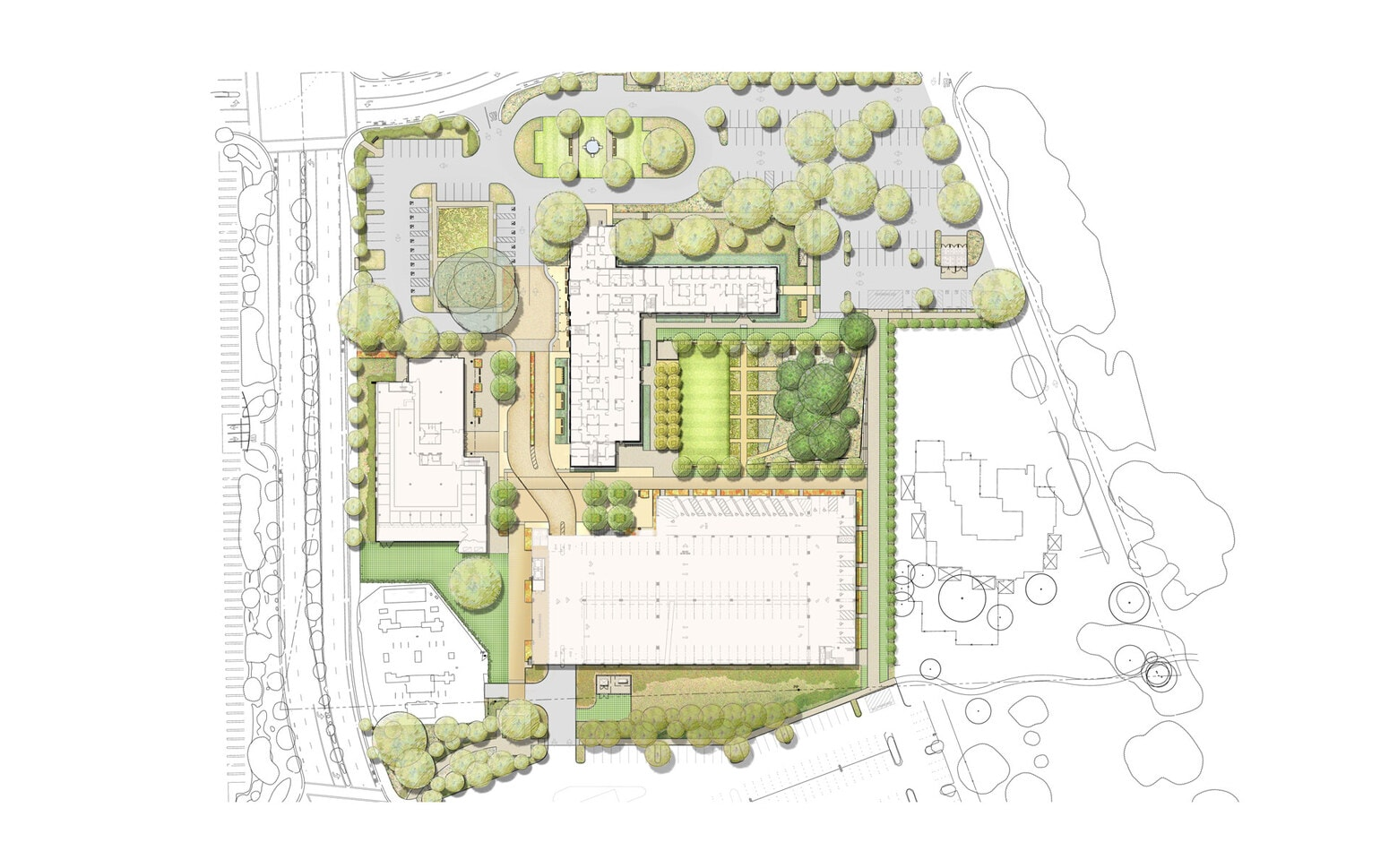 Stanford Hoover Pavilion, Garage and Neuroscience Center Site Plan